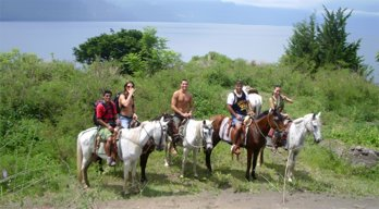 Horseback riding from Panajachel to San Pedro